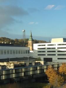 Udsigten på min låneplads på Aalborg kontoret.