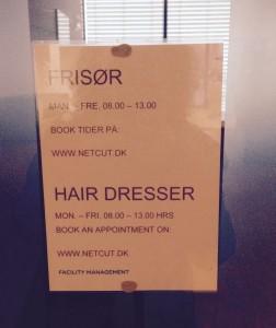 Tænk at kunne gå til frisør midt på dagen...