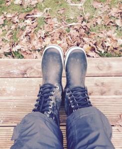 Gummistøvler er det perfekte fodtøj - husk varme sommer :)