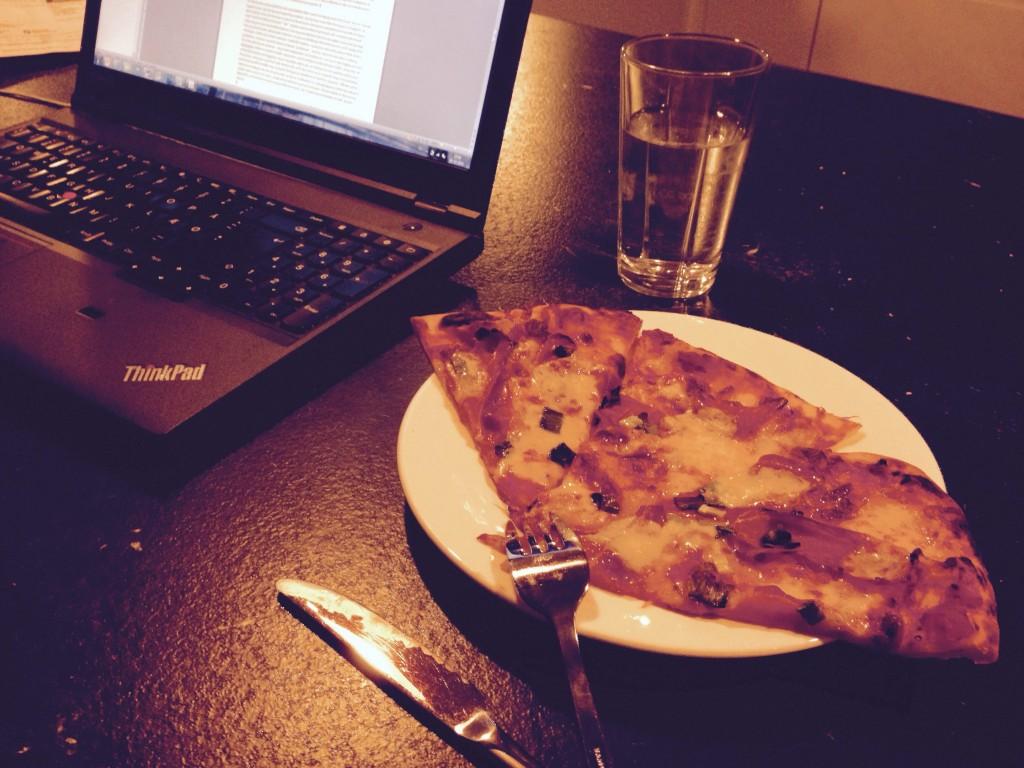 Pizzarester betyder nem aftensmad.