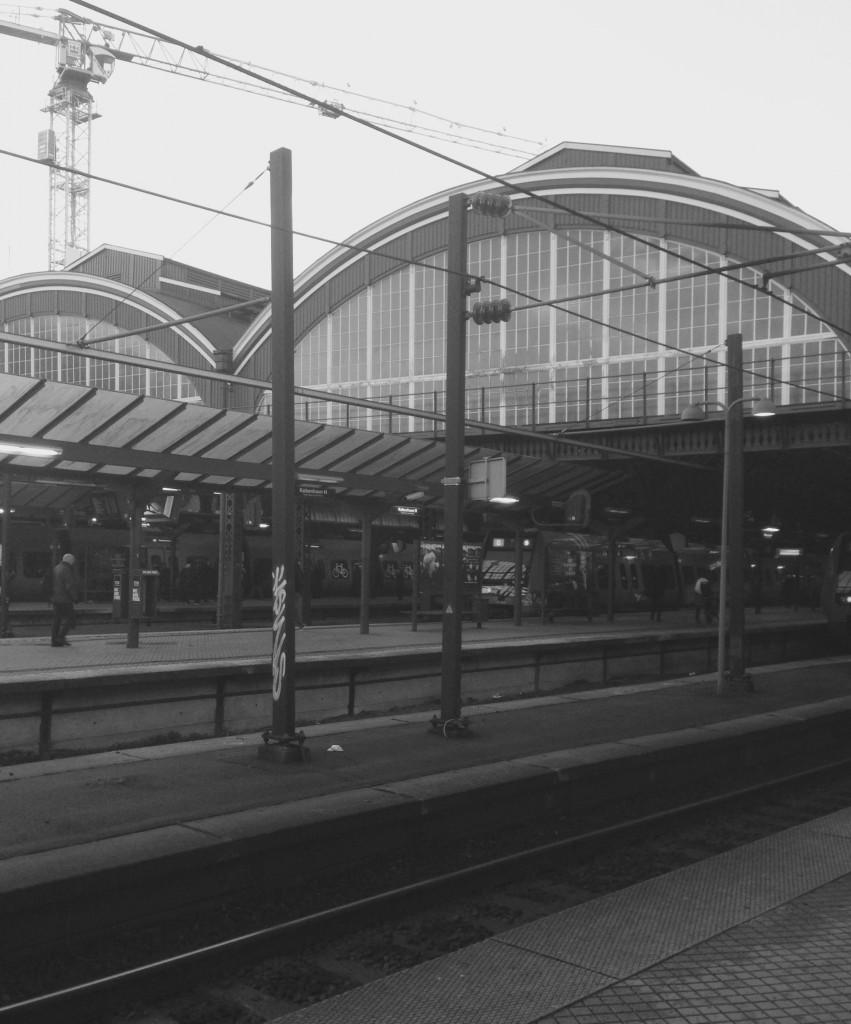 Turen hjem gik med tog fra KBH H.
