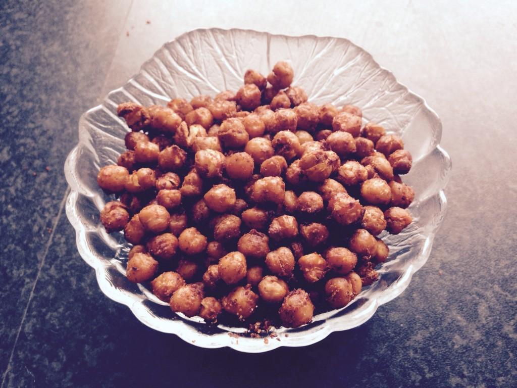 Ristede kikærter (opskrifter kommer på bloggen senere)