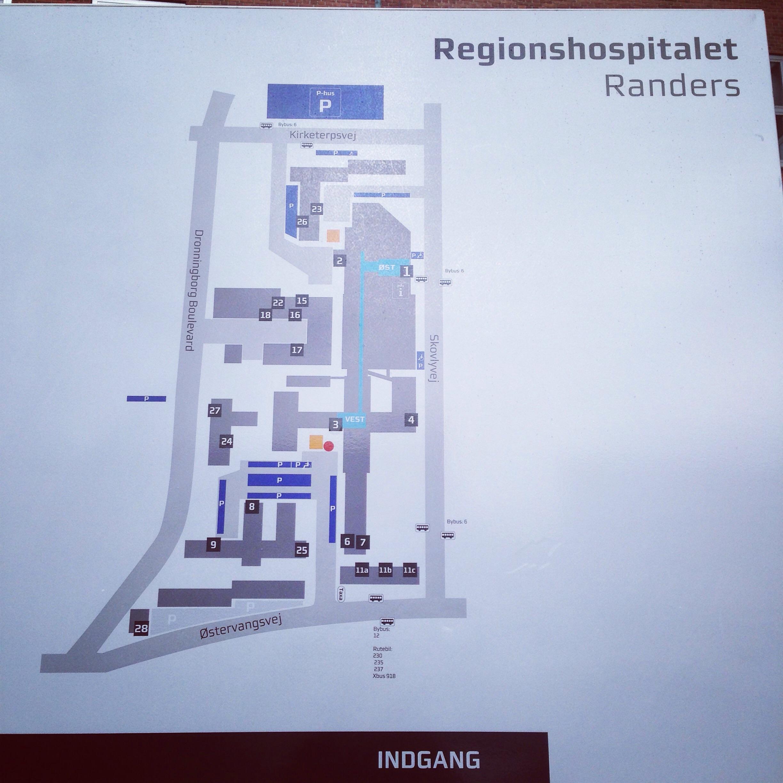 Onsdag legede jeg sygetransport og hentede Manden på Randers Sygehus.